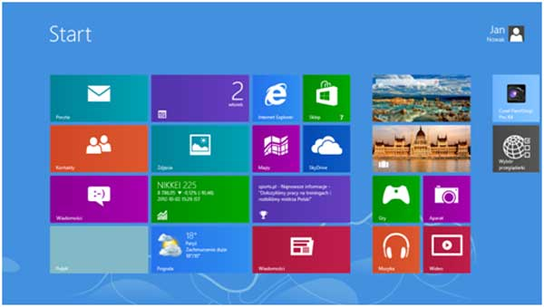 Ekran Windows 8