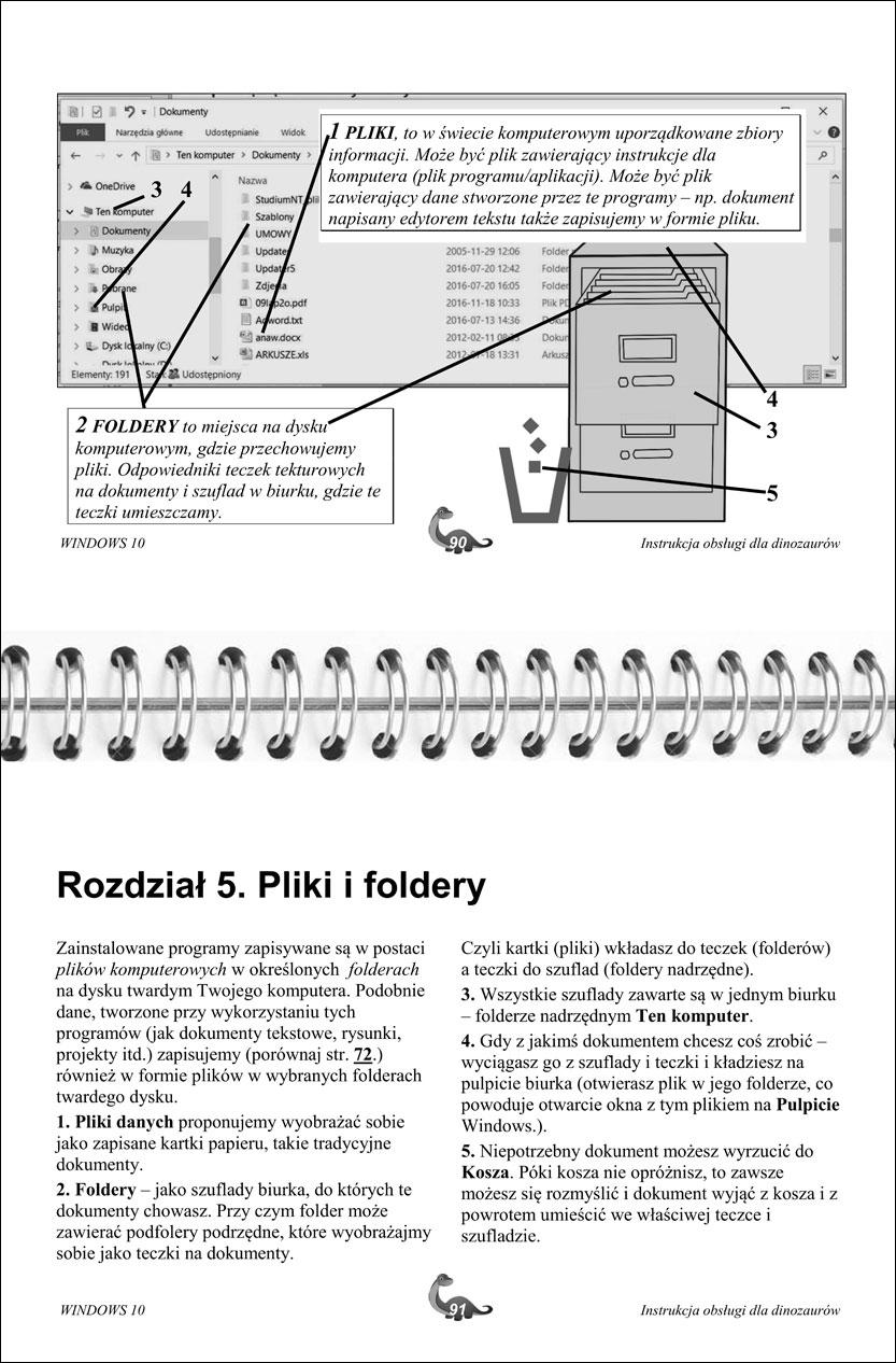 Przykładowe strony instrukcji Windows 90-91
