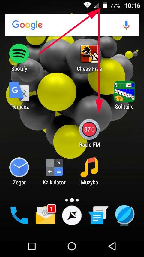 Ekran główny Androida