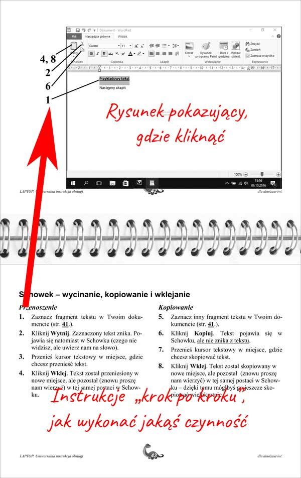 Instrukcja laptopa - idea