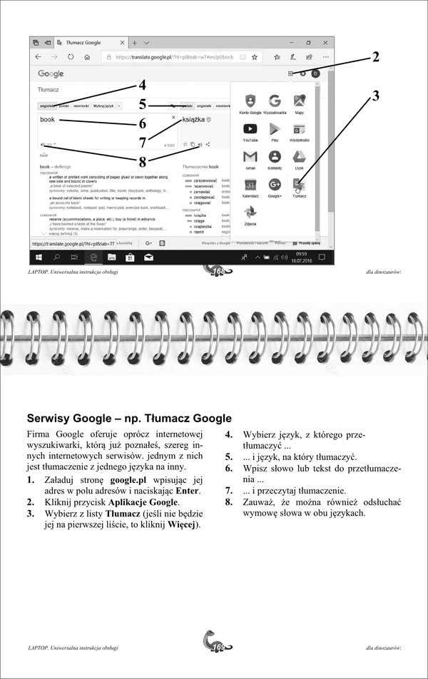 Laptop Instrukcja strony 168-169