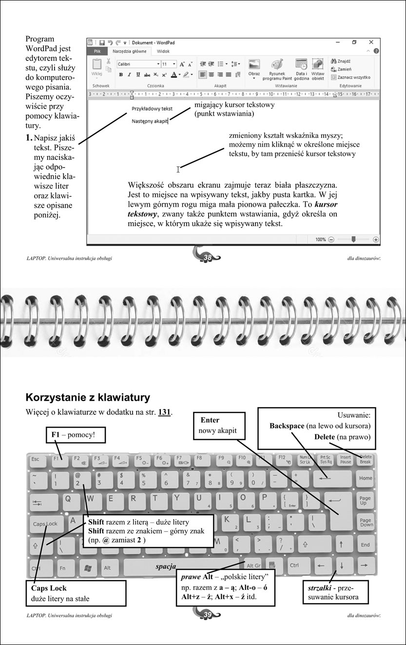 Przykładowe strony instrukcji laptopa 38-39