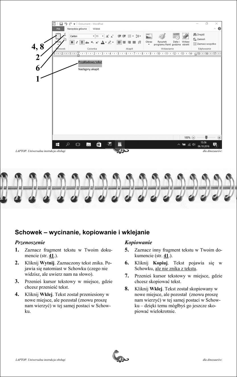 Przykładowe strony instrukcji laptopa 42-43