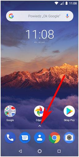 Ekran główny Androida 8