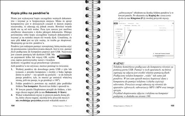 Obsługa komputera 104-105 - kopia pliku na pendrive
