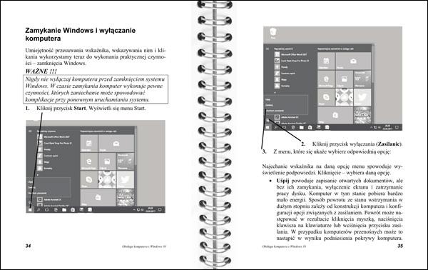 Obsługa komputera strony 34-35 - yłączanie komputera