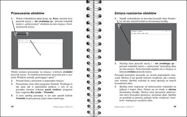 Obsługa komputera strony 54-55 - przesuwanie obiektów
