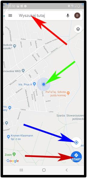 Nawigacjja GPS w Androidzie