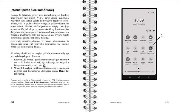 Instrukcja telefonów Samsung strony 118-119
